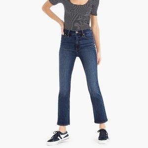 J. Crew Curvy Demi-Boot Crop Jeans in Vista Wash